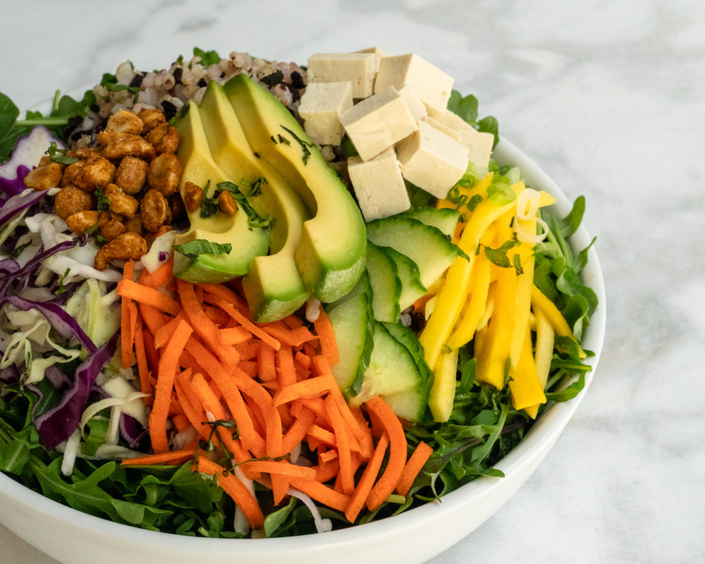 MIXT's Ritual salad featuring spicy peanuts